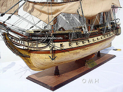 """XL USS Constitution Wooden Tall Ship Model 59"""" Old Ironsides Fully Assembled New"""