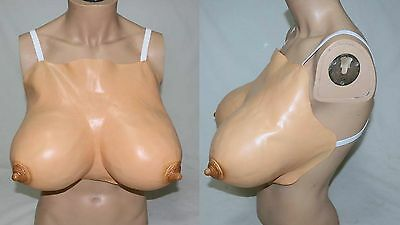 LARGE Latex Fake Boobs Breasts Cross-dressing Transvestite Tranny Drag Queen New
