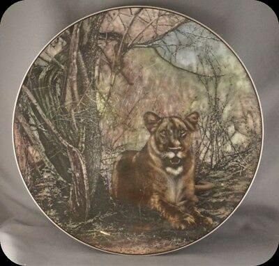 Royal Doulton African Series Lioness D6360 African Game Reserve Collector Plate