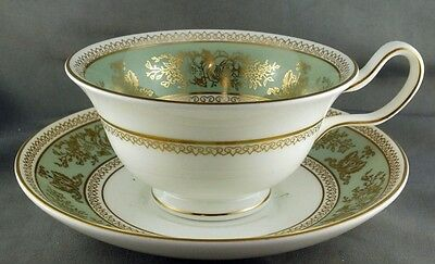 Wedgwood Columbia Sage Green Cup and Saucer