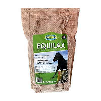 Equilax Contains Psyllium Husk Vetafarm  Horse Equine 1.5kg Health Supplement