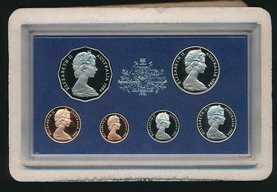 1984 Australia 6 Coin Proof Set With Foams and Certificate