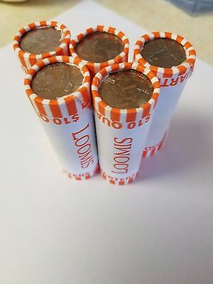 5 Circulated Bank Wrapped Rolls ($50) Mixed Washington Quarters. U.S Coins/Money