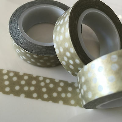 Washi Tape Confetti On Gold 15Mm Wide X 10Mtr Roll Scrap Plan Craft Wrap