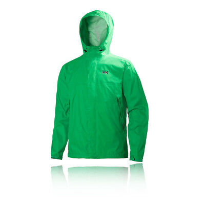 Helly Hansen Loke Mens Green Waterproof Running Hoody Hooded Jacket Top
