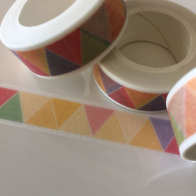 Washi Tape Inca Triangles 15Mm Wide X 10Mtr Roll Scrap Plan Craft Wrap