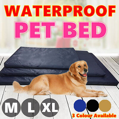 Soft Waterproof Pet Bed M L XL Mattress Dog Cat Pad Mat Cushion Pillow Large