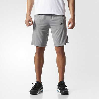 Adidas Essentials Mens Grey Running Sports Gym Shorts Pants Bottoms