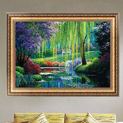 DIY 5D Diamond Embroidery Willow Painting Cross Stitch Kits Home Decor Craft