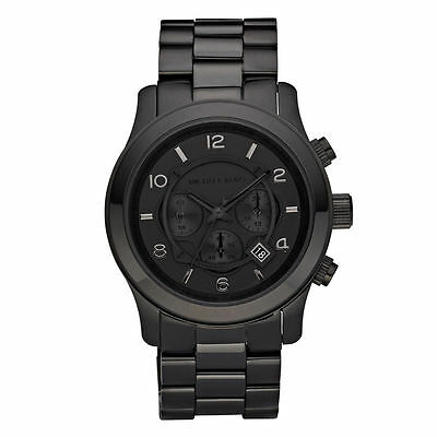 Michael Kors Men's MK8157 Black Out Runway Chronograph Stainless Steel Watch