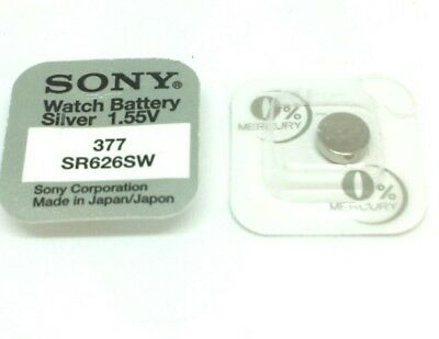 Sony Watch Battery Cell Button Silver-Oxide 1.55v-377 SR626SW AG-4 377 ⌚