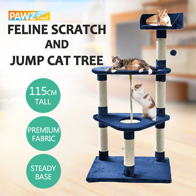 Cat Tree Scratching Post Large Gym Tower Condo House Furniture Kitten Toy 115CM