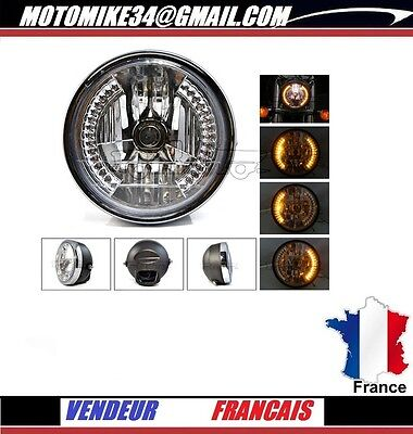 zr7  optique ROND phare clignotants A LED  headlight