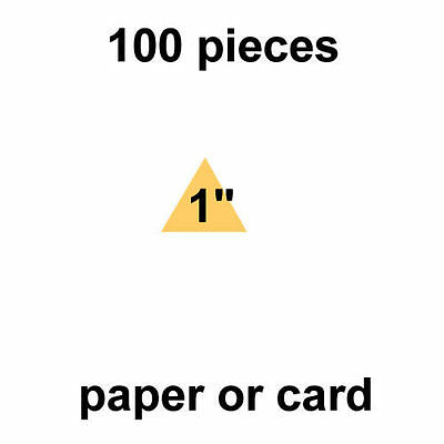 1 inch Triangles - 100 per pack - Paper or Card - English Paper Piecing