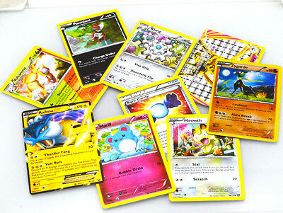9pcs Pokemon Cards Bulk Lot GUARANTEED Ultra Rare EX Card + Common Holos
