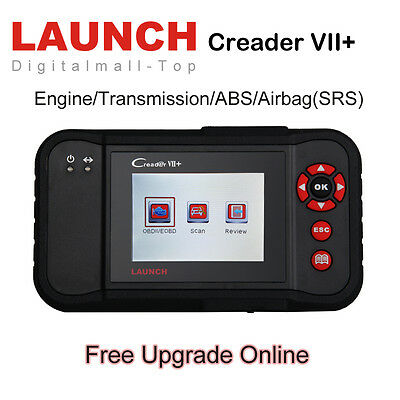 Launch X431 Creader VII+ Diagnostic Tool Scanner OBD2 Code Reader Engine ABS SRS