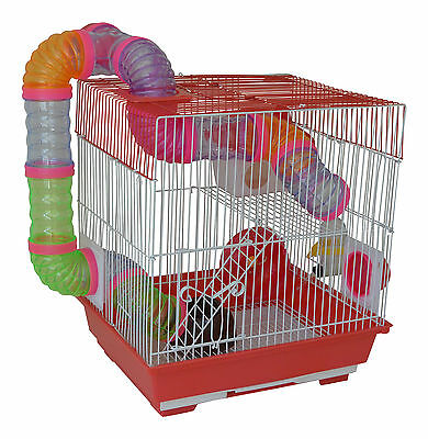 Hamster Cage - Small Animal House - Play Enclosure - Pull Out Cleaning Drawer