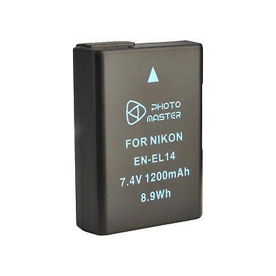 AU New EN-EL14 Battery For Nikon Coolpix P7000 P7100 P7800 D5100 D5200 Camera