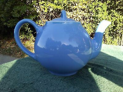 Vintage Hall Periwinkle Teapot Made In Usa Blue