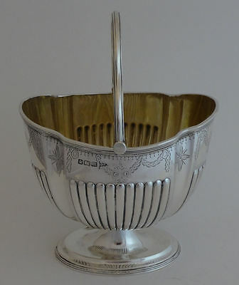Antique Edwardian solid silver Sheffield 1904 petty sugar basket - Walker & Hall
