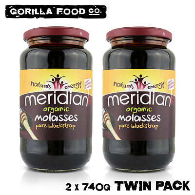 Meridian Organic Molasses Pure Blackstrap - 2 x 740g Twin Pack