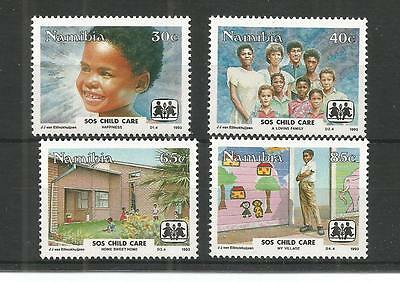 Namibia 1993 Child Care Sg,619-622 Un/mm Nh Lot 1217A