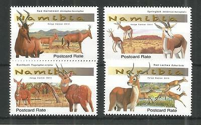 Namibia 2014 Antelopes Sg,1238-1241 Un/Mm Nh Lot 1220A