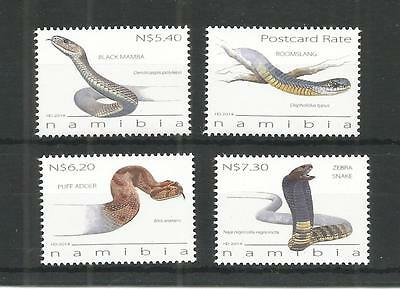 Namibia 2014 Snakes Sg,1242-1245 Un/mm Nh Lot 1221A
