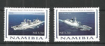 Namibia 2014 Chinese Navy Vessels Sg,1246-1247 Un/mm Nh Lot 1222A