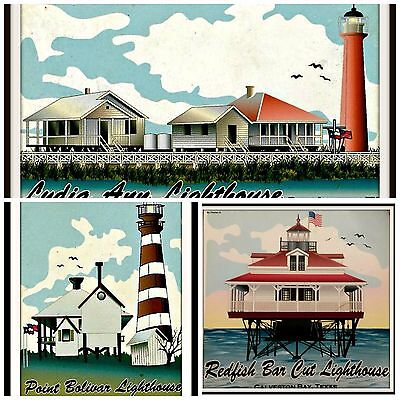 3 Pack Lighthouse Refrigerator magnets
