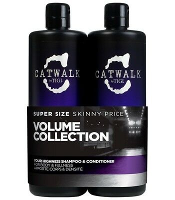 Tigi Catwalk Your Highness Elevating Tweens Shampooing 750ml + Conditionneur 750