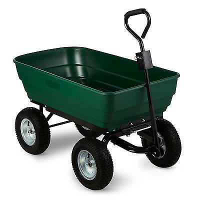 Walbeck 125 L 400 Kg Heavy Duty Moving Garden Cart Wagon Garden Outdoor Green