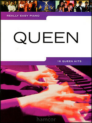 Really Easy Piano Queen Sheet Music Book Learn to Play Best of Greatest Hits