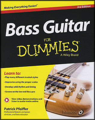 Bass Guitar for Dummies 3rd Edition TAB Music Book/DLC Learn How to Play Method