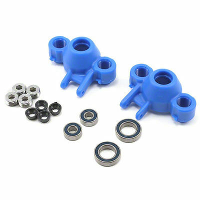 RPM Axle Carriers & Oversized Bearings (Blue) (Revo/Slayer) (2) - RPM80585