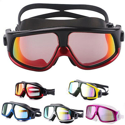 Silicone Large Frame Glasses Swimming Goggles Anti-Fog UV Mask Waterproof