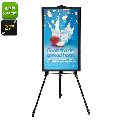 """INTELLIGENT 27"""" COMMERCIAL SIGN MENU BOARD-ANDROID OS,AUDIO OUT,iOS+ANDROID APP"""