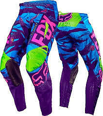 Fox Youth Vicious Pant 180 2016 Size 26 (10) -  Blue- Motocross Mx Offroad