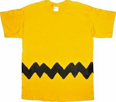 Adult Men's Peanuts Comic TV Show Charlie Brown Shirt Costume T-shirt Tee