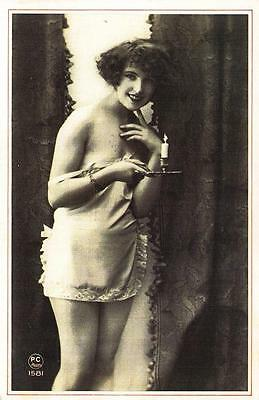 Postcard Nostalgia 1920's French Naughty Risque Reproduction Card