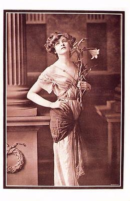 Postcard Nostalgia Edwardian Actress Miss Gabrielle Ray Reproduction Card