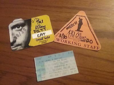 Phil Collins   1997    Concert  Ticket Stub And Backstage Passes