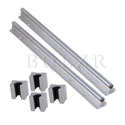 6pcs Open Linear Bearing Slide and 12mm Shaft Dia 400mm Linear Bearing Rail