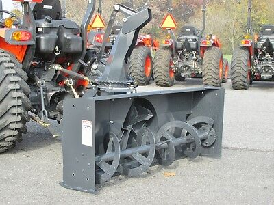 "New Mk Martin Meteor Snow Blower, 68"",  Pto Drive, 3 Point Hitch, Manual Spout"