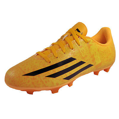 Adidas F5 FG Firm Ground Messi Junior Kids Football Boots Solar Gold