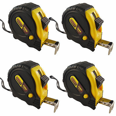 4x 7.55m /25ft Pocket Metal Tape Measure Tape Sturdy Durable Casing