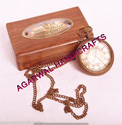 Maritime Brass Pocket Watch Engraved Pocket Watch Gift Pocket Watch Marine Gift