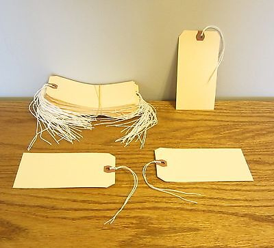 """175 Avery Dennison Pre Strung  #6 Blank Shipping Tags 5 1/4"""" By 2 5/8"""" Scrapbook"""