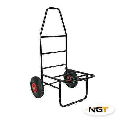 Brand New Fishing Trolley With Pneumatic Tyres Flat Folding For Seat Boxes