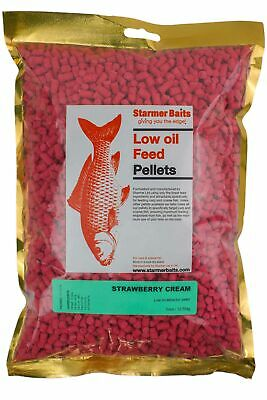 Strawberry cream pellets for carp and coarse fishing 5mm